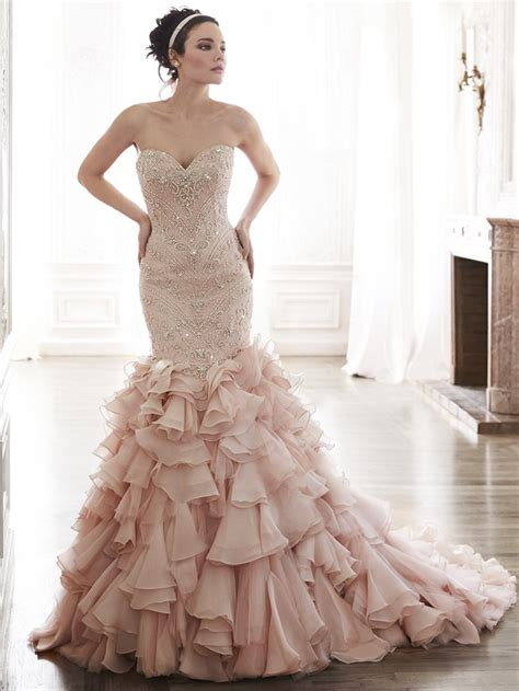 colored wedding dress add some color 19 stunning colored wedding dresses