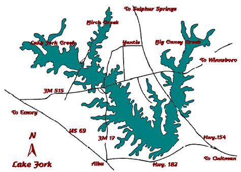 map lake texas map of lake fork texas