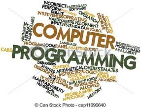 Home Drawing Software drawing of computer programming abstract word cloud for