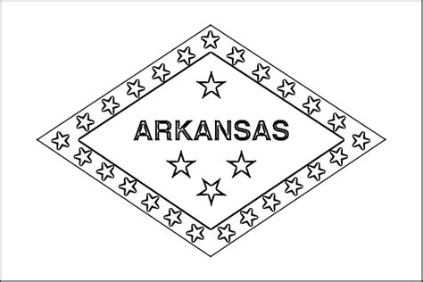 free coloring pages of arkansas state flag