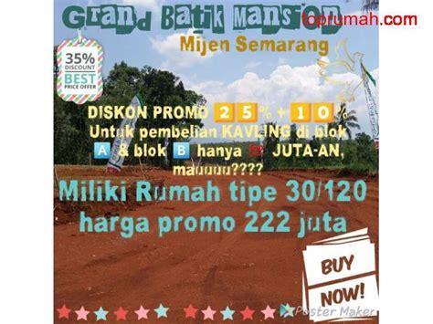 Jual Green Semarang perumahan green batik mension mijen semarang kota