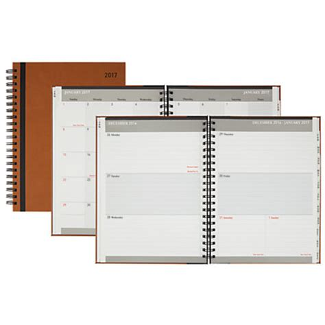 Office Depot Planners Office Depot Brand Weeklymonthly Planner 8 X 11 Johnny
