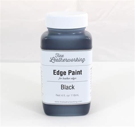 leather edge paint black