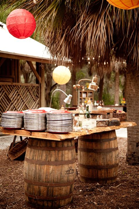 island themed events rustic island themed wedding welcome event