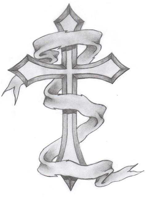 awesome cross tattoo designs drawings of crosses classic cross by glax34