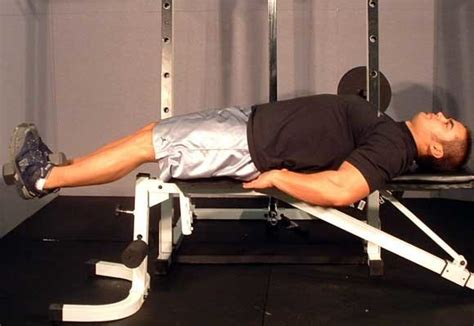 lying bench leg raise sculpt your core the correct way kevin deeth