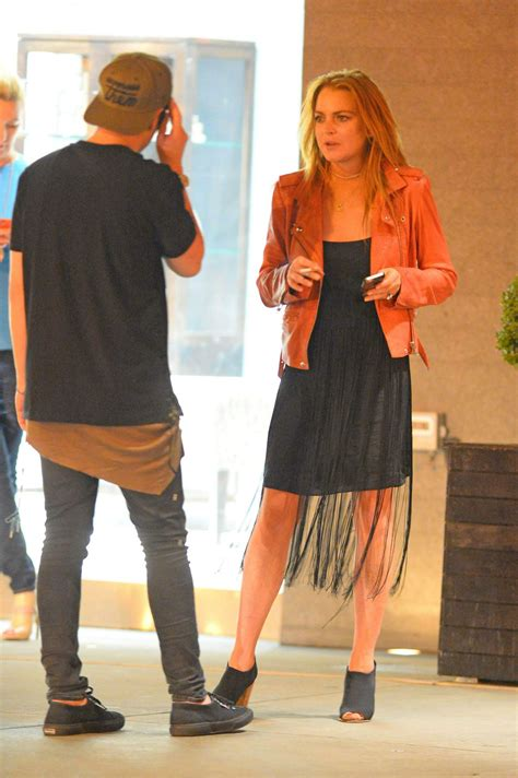 Lindsay Lohan Hangs Out With Jude At The Box by Lindsay Lohan Spotted Hanging Out With Friends In The