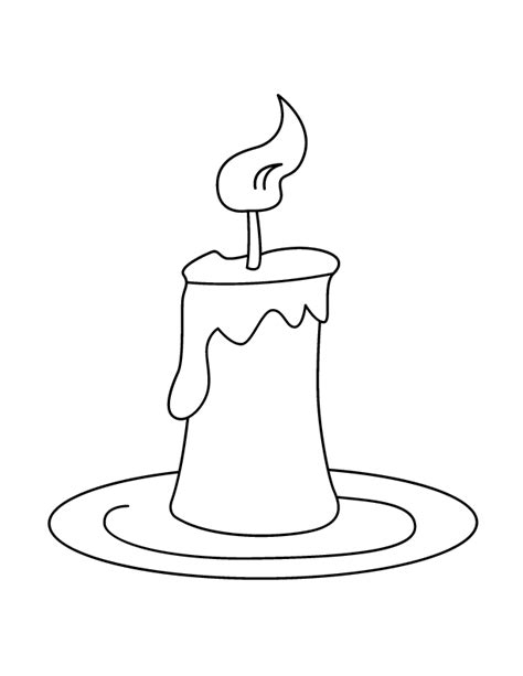 Candles Coloring Page sketch template