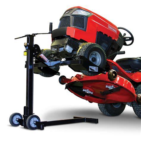 garden tractor lift table mojack 60365 ez 300 lb lawn mower lift shop your way