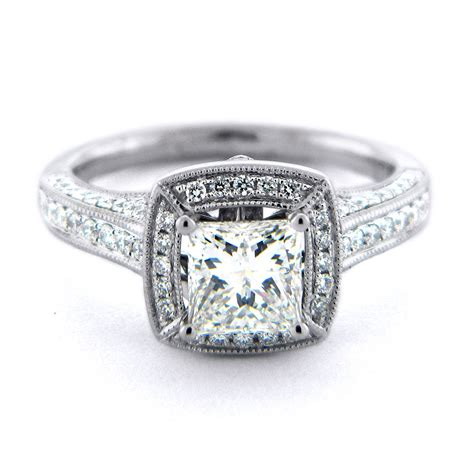 simple square engagement rings engagement square