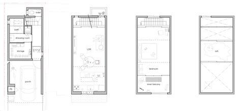 japanese house floor plans gandare house a narrow japanese home by ninkipen
