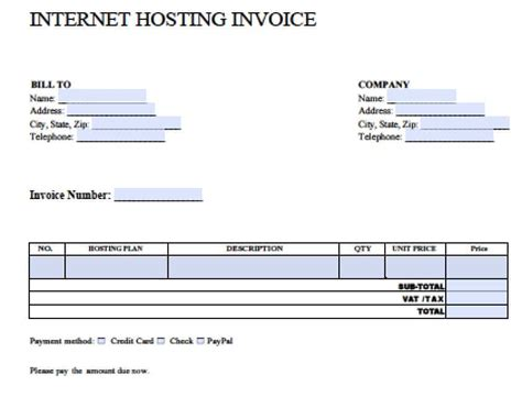free blank invoice templates in pdf word excel online