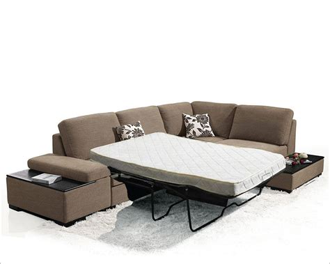 fabric sectional sofa bed in style 44l6015