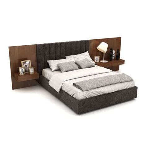 headboard double bed 3d model double bed and headboard cgtrader