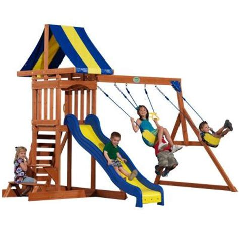 swing sets home depot backyard discovery providence all cedar swing playset