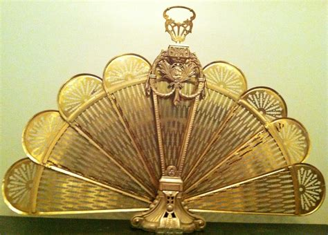 fireplace fan screen vintage brass fireplace fan screen peacock