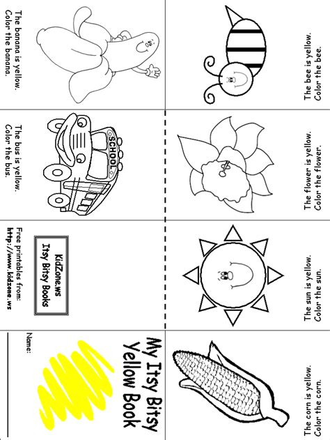 week 1 color recognition yellow prek homeschooling