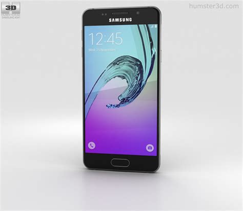 Samsung A3 2016 Mikuu Custom samsung galaxy a3 2016 black 3d model humster3d