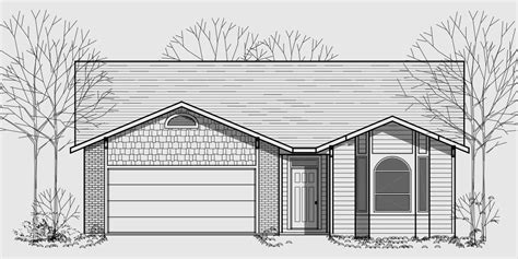 narrow one story house plans one story house plans narrow lot house plans 40 wide house plan