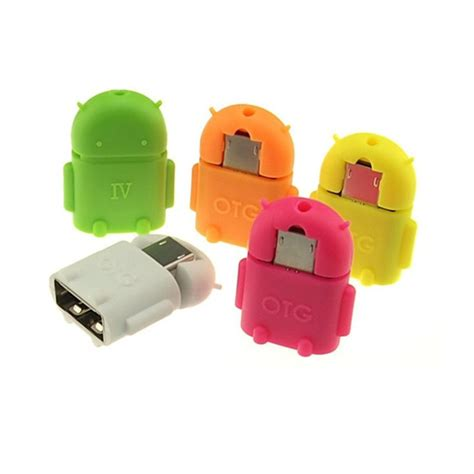 Robot Micro Usb Otg Smart Card Reader Connection Kit Memori Car T19 6 robot micro usb to usb2 0 otg adapter converter connect to usb mouse keyboard for android phone