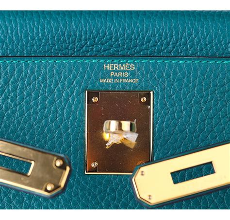 Hermess Togo herm 232 s 28 bag malachite togo leather gold hardware