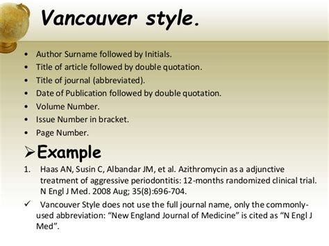 reference book vancouver different style of referencing