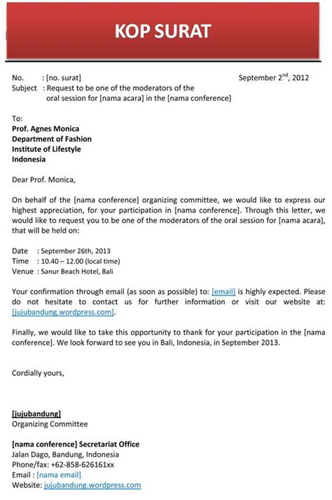 surat pribadi dalam bahasa inggris belajaringgrisnet contoh surat undangan invitation letter dalam bahasa
