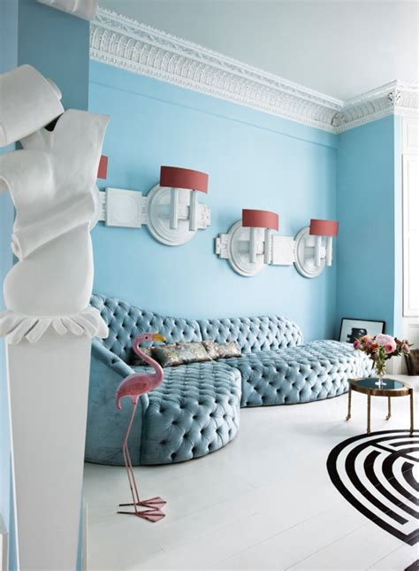 cool lights for apartment eclectic apartment done in light blue shades digsdigs