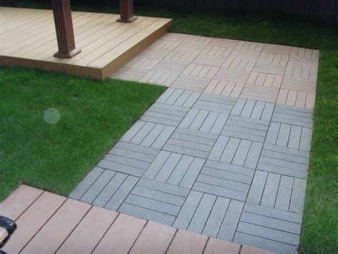 Composite Deck Tiles On Grass   Home Design Ideas