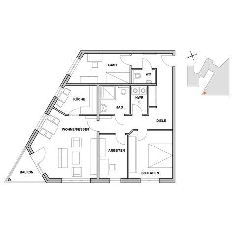 wohnung 50 m2 grundriss grundrisse