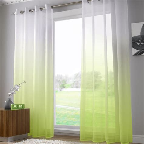 washing voile curtains harmony lime green voile curtain panel ring top