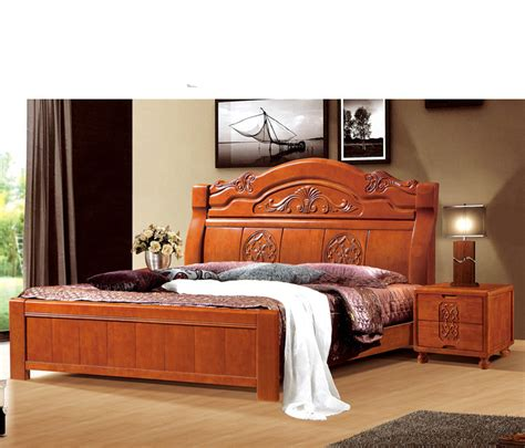 Handcrafted Wood Bedroom Furniture - guangdong style handmade carved solid wood bedroom