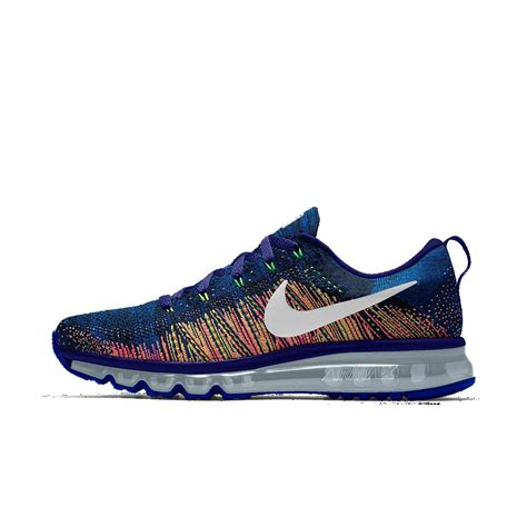 mens nike air max boots nike flyknit air max id s running shoe in blue for