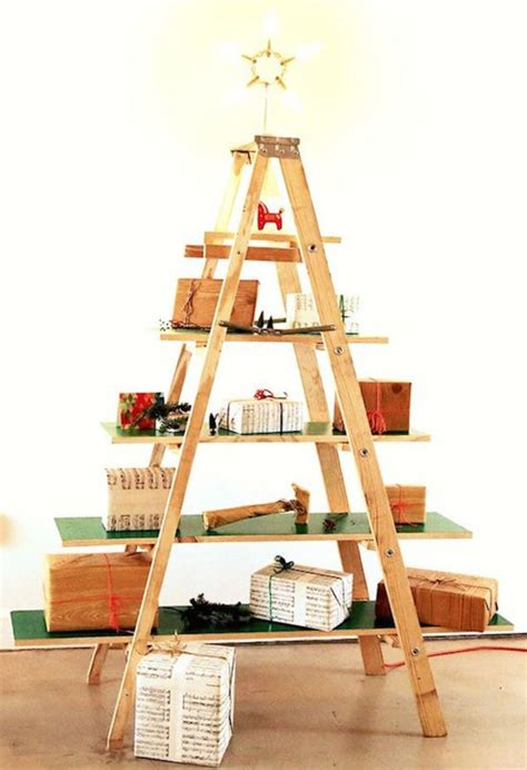 how to make a ladder christmas tree 10 tree alternatives leave trees in the forest