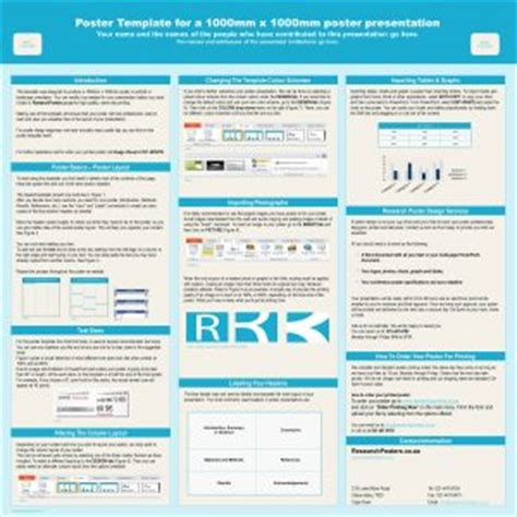 Download Free Research Poster Templates A1 Size Presentation Poster Templates