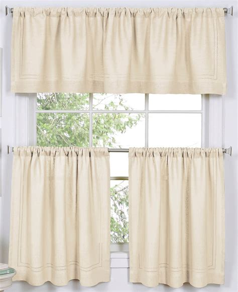 lorraine home fashions monarch tier curtains 3 piece