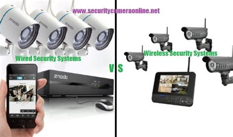 wired vs wireless security systems smart security