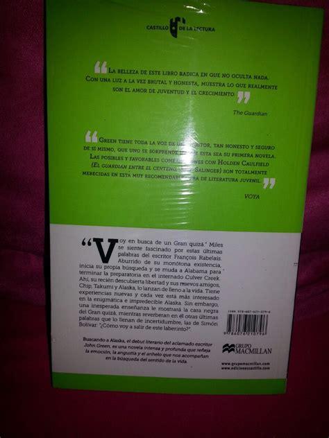 libro para leer buscando a alaska libro buscando a alaska 150 00 en mercado libre