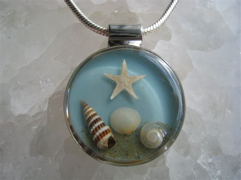 Handmade Seashell Jewelry - real seashell necklace handmade silver by stemsshellsandsnow