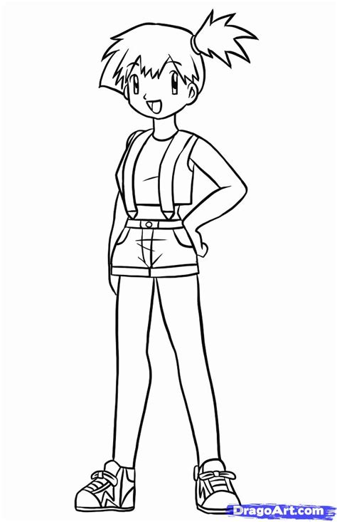 pokemon coloring pages misty misty pokemon coloring pages coloring home
