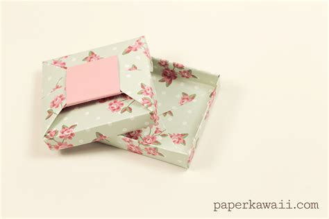 Origami Gift - origami bow gift box tutorial paper kawaii