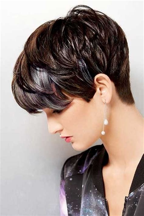 crop haircut with crown volume pixie cut with volume