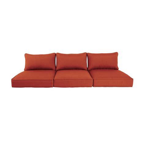 outdoor sofa cushion brown greystone cinnabar replacement outdoor sofa cushion mt005 sc3 the home depot