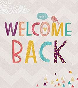 printable cards welcome back welcome back card amazon co uk office products