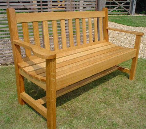 oak garden benches wl west and sons ltd products