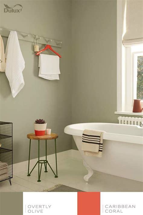 olive green bathroom ideas overtly olive dulux house pinterest olives colors