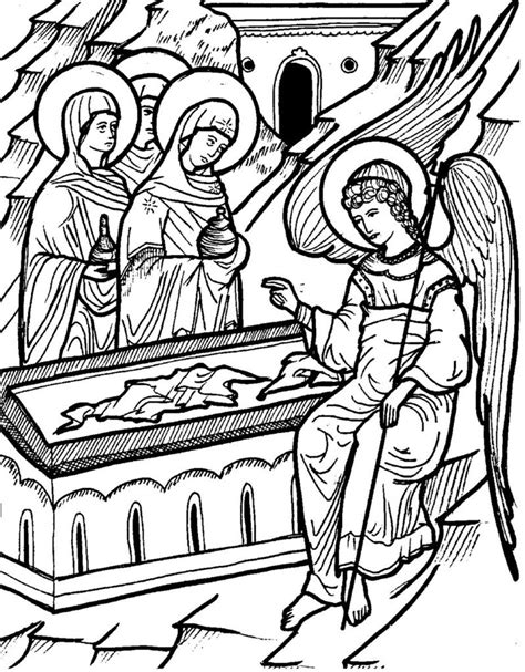 christian icon coloring pages free orthodox icon coloring pages