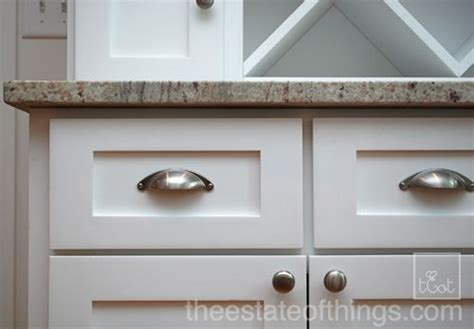 kitchen shaker cabinet detail bin pulls for the home