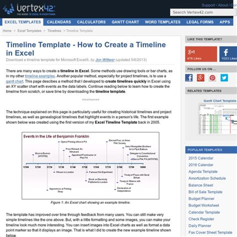 How To Create A Timeline In Excel Pearltrees How To Create A Timeline In Excel Free Timeline Template