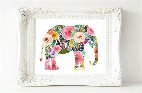 printable baby girl wall art printable wall art elephant printable art baby girl nursery